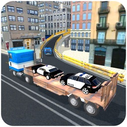 Police Car Transport Truck 3d