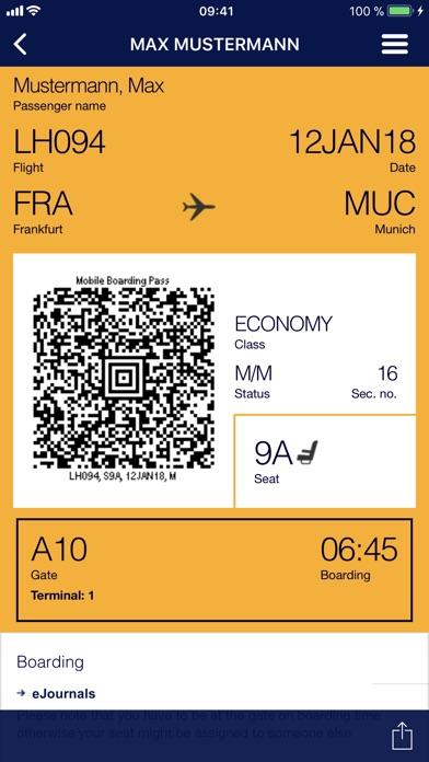 Lufthansa iPhone