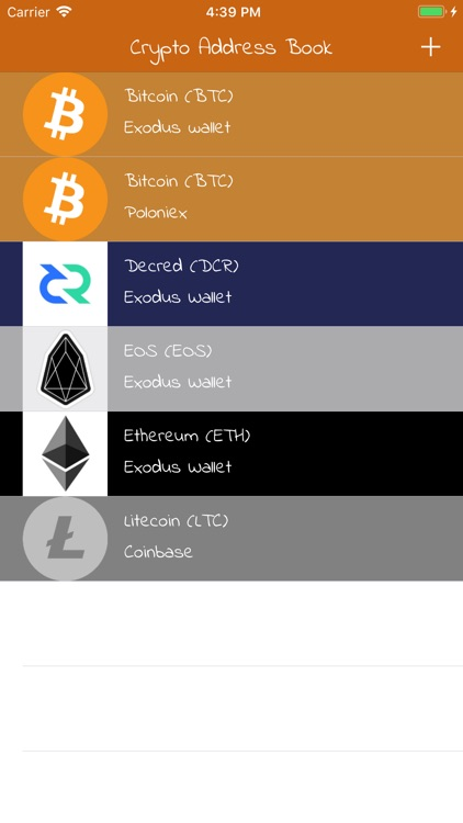 Crypto Address Book