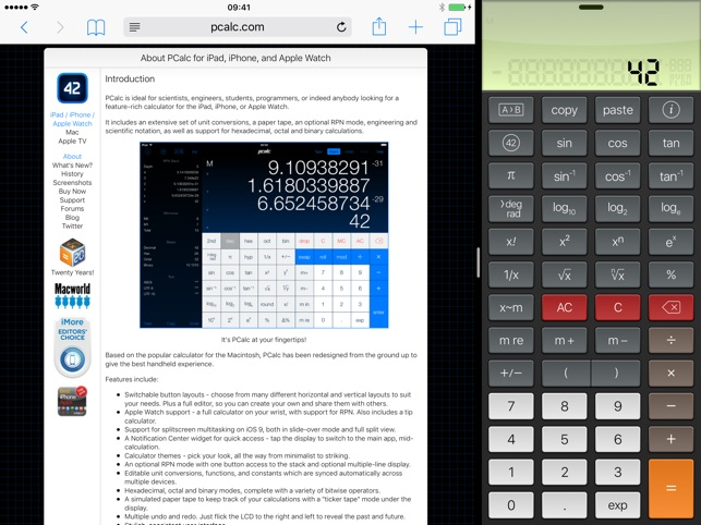 PCalc Lite Screenshot