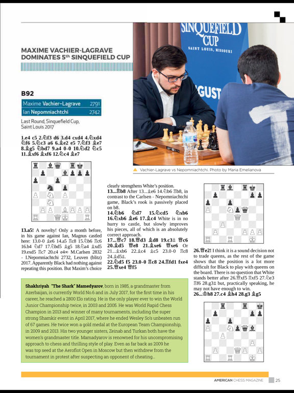 American Chess Magazine screenshot 10