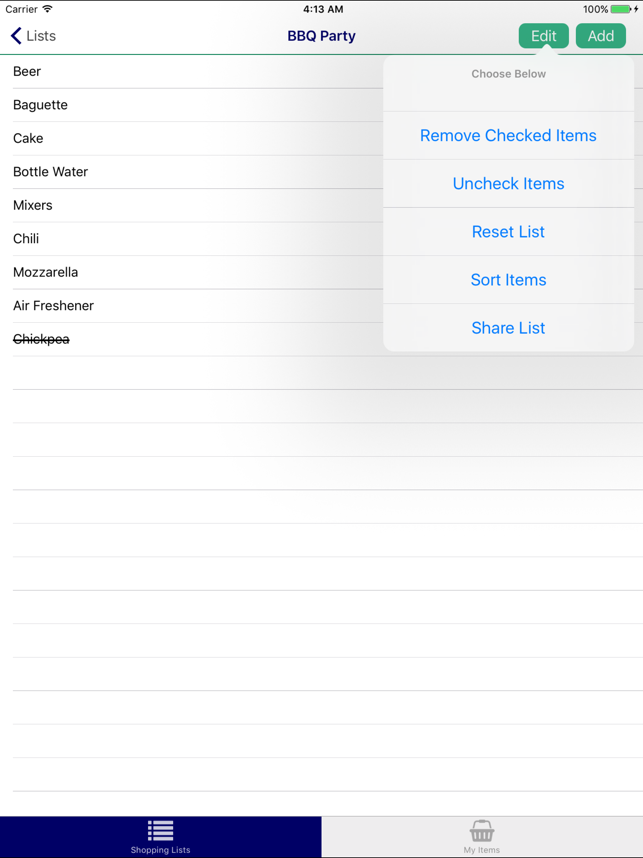 ‎Grocery/Shopping List Pro Screenshot