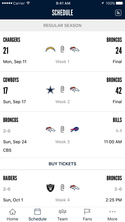 Denver Broncos 365 screenshot-1