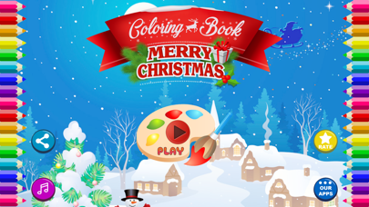 Coloring Book -Merry Christmas screenshot one