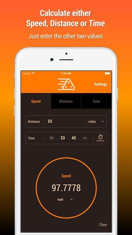 Speed Distance Time Calculator screenshot-0