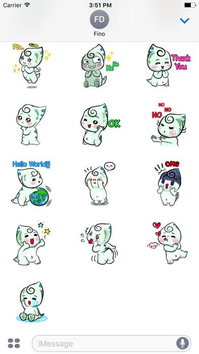 Fino Chubby Dinosaur Sticker-4