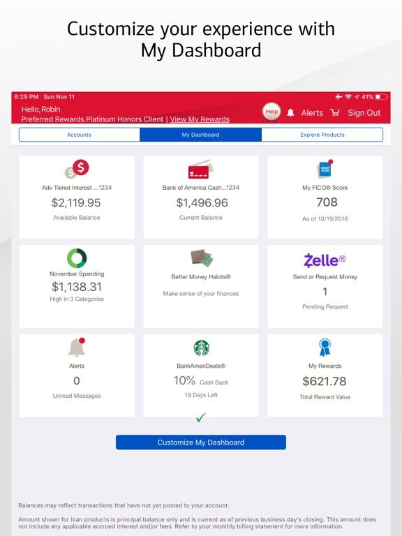 Bank of America Mobile Banking iPad