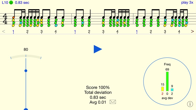 Rhythm Sight Reading Trainer screenshot-1
