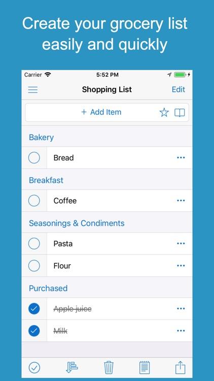 Shoppylist Pro (Grocery List) screenshot-0