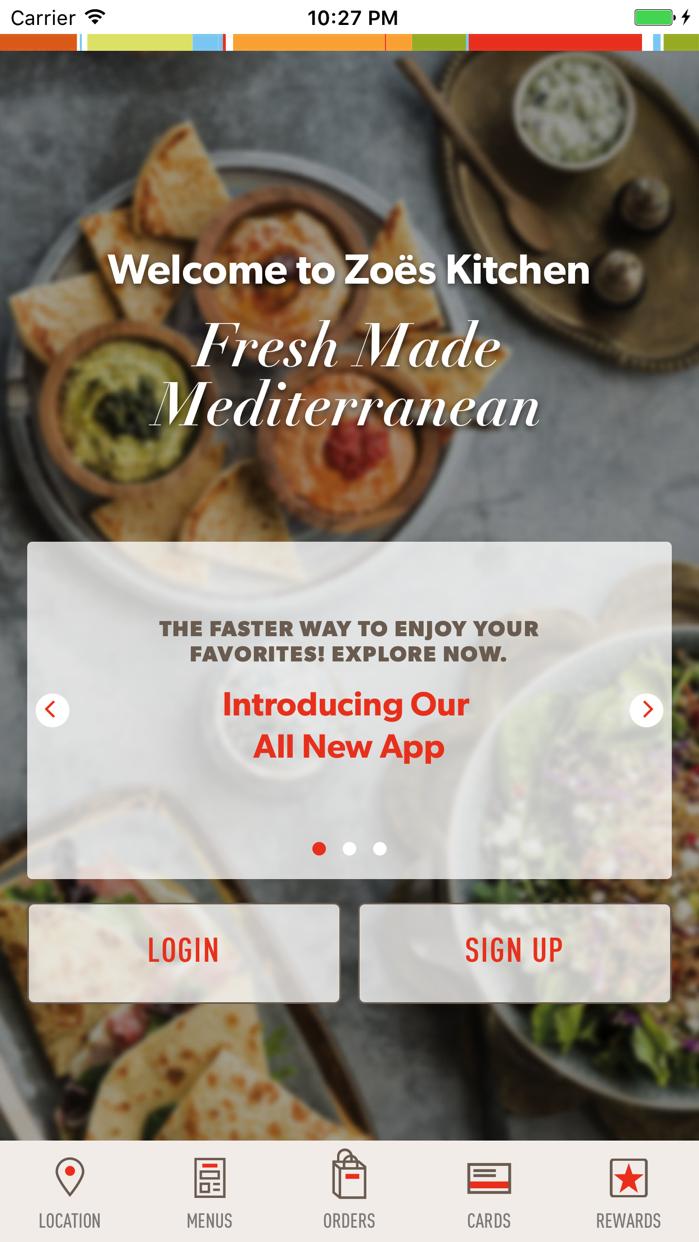 Zoës Kitchen Screenshot