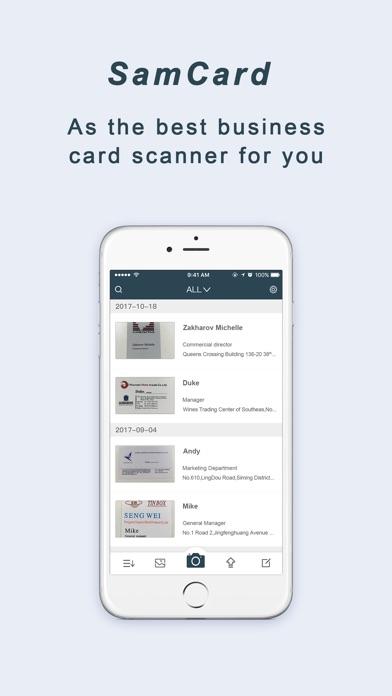 Samcard-business card scanner app image