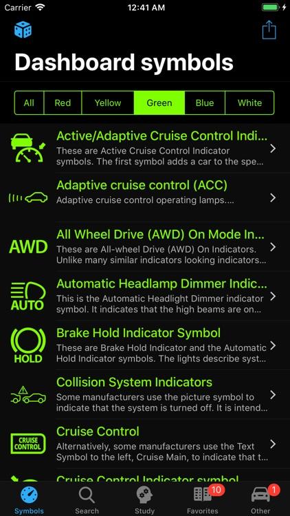 Car Dashboard Symbols screenshot-4