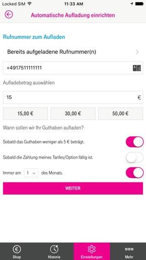 Prepaid Aufladung Im App Store