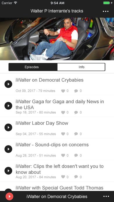 Walter P Interrante's tracks screenshot one