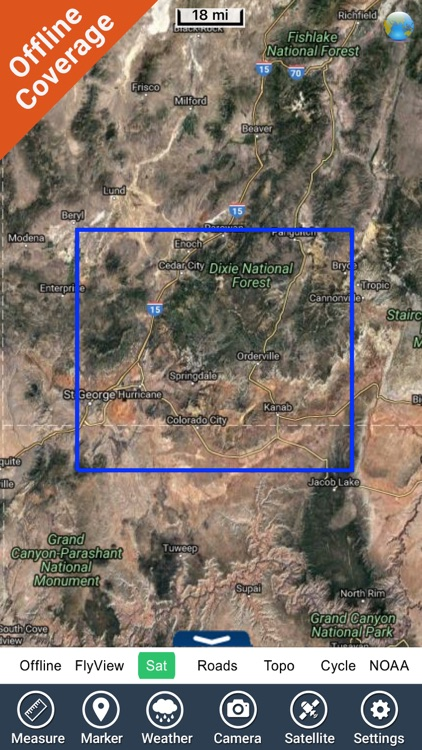 Zion National Park gps and outdoor map with Guide screenshot-4