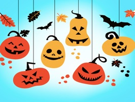 that is nice collection stickers about Hanging Halloween decorations on iMessage store