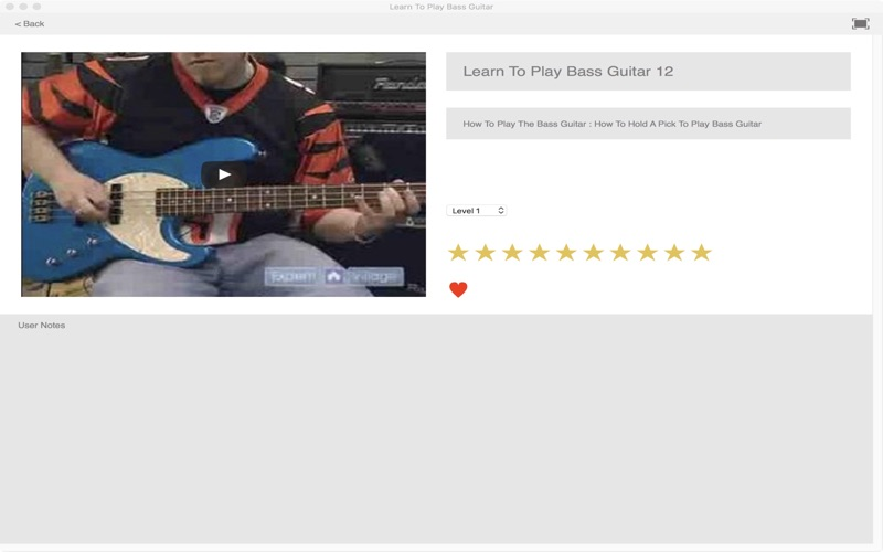 Learn To Play Bass Guitar Screenshot
