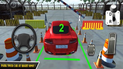Red Car Parking Skill 18 screenshot two