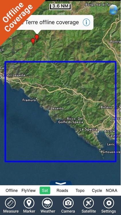 Cinque Terre National Park - GPS Map Navigator screenshot-4