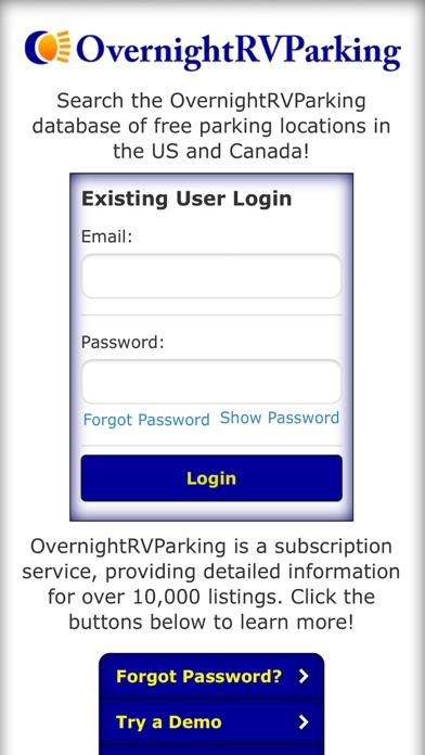 Overnight RV Parking