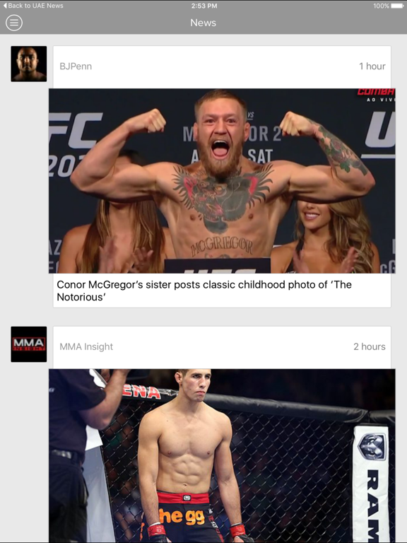 MMA unlimited | Latest Martial Arts Fights Sports News screenshot