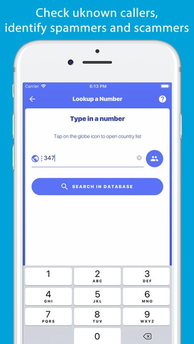 Number Finder - Reverse Lookup Screenshot