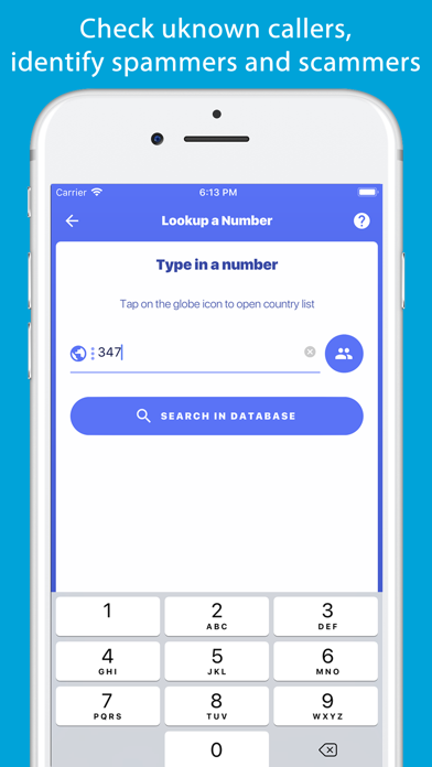 Number Finder - Reverse Lookup Screenshot