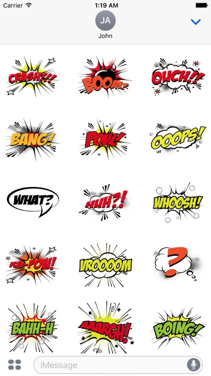 Pow Comic Sticker Pack screenshot-4