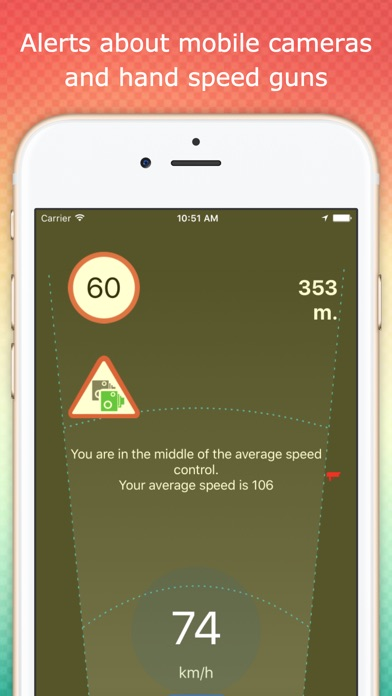 Speedcams detector warnings app image