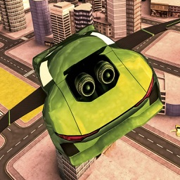 Flying Sports Car Driving Sim-Ulator Game