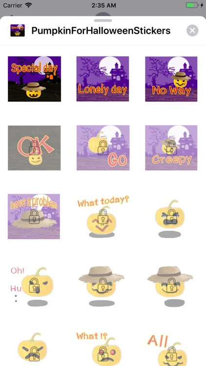 Pumpkin For Halloween Stickers screenshot-3