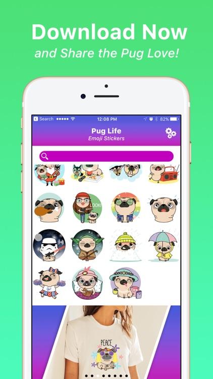 Pug Life Emoji Stickers screenshot-4