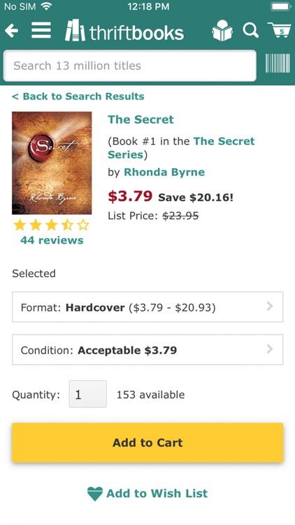 ThriftBooks: New & Used Books screenshot-5