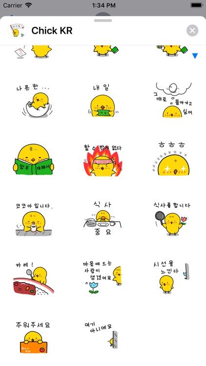 Chick KR Sticker screenshot-4