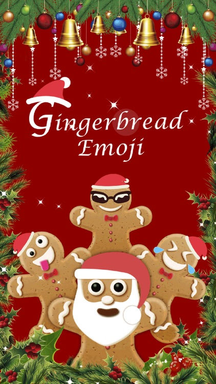 Christmas Gingerbread Emoji screenshot-3