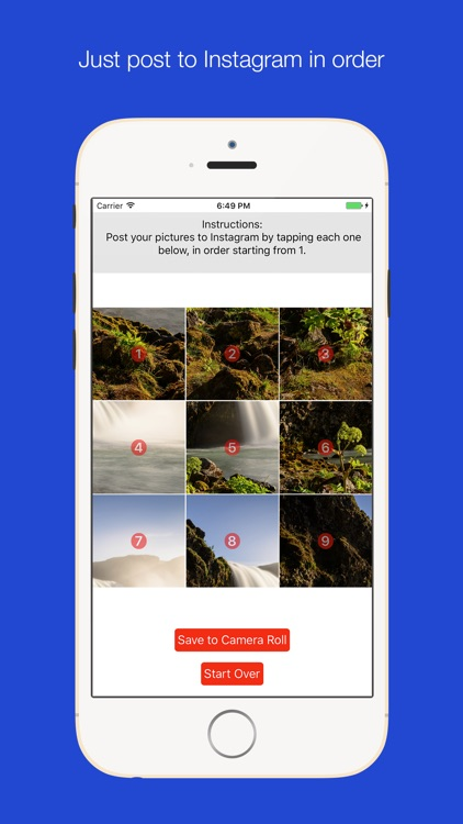Photo Splitter: Giant picture grids for Instagram by Fast