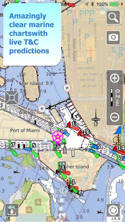 Aqua Map US Canada, Marine GPS