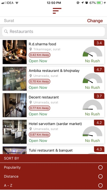 ywait - Restaurant Finder