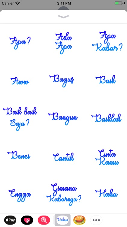 Bahasa Stickers screenshot-1