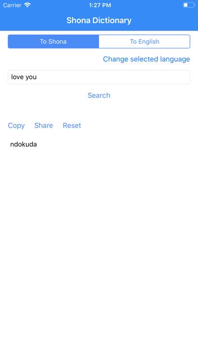 Shona Dictionary Pro screenshot three