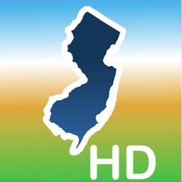 Aqua Map New Jersey Lakes HD