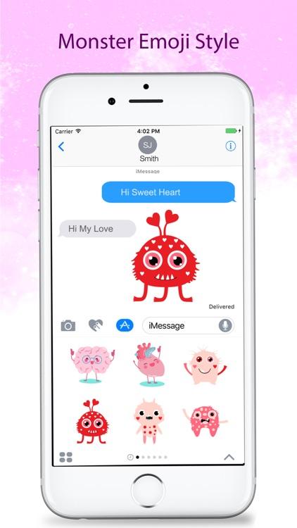 Cute Monster Stickers and Emojis screenshot-4