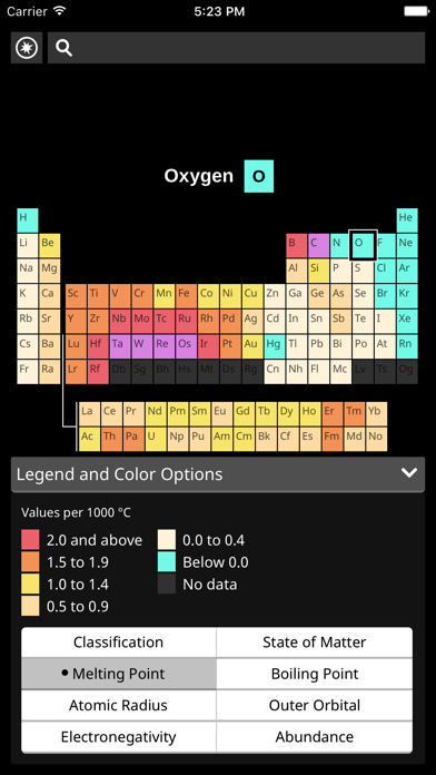 FlashMapper's Periodic Table screenshot two