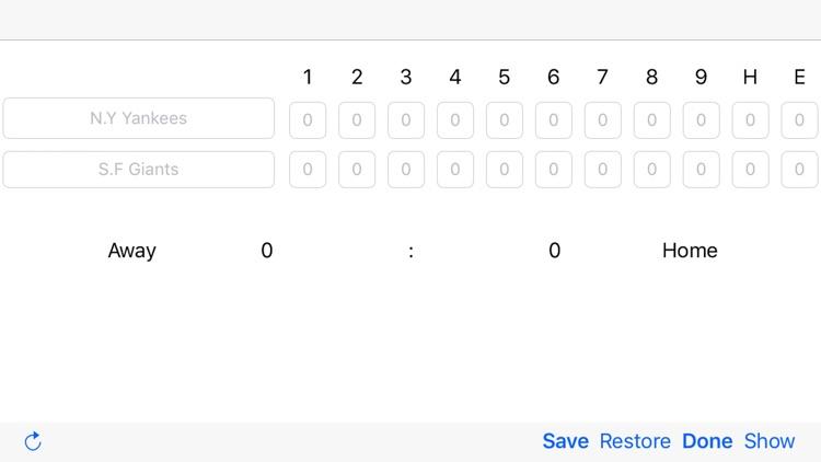 Scoreboard for Baseball screenshot-0