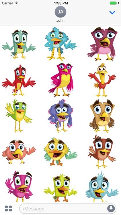 Happy Bird Stickers