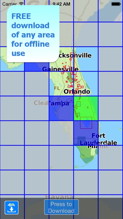 Aqua Map Florida Lakes GPS HD screenshot-5