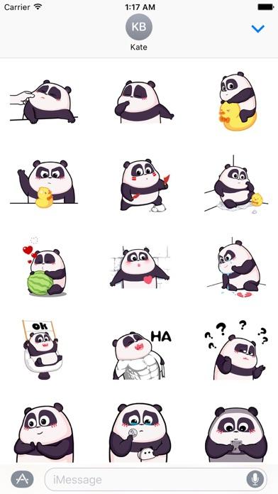 Pandamoji Moving Panda Sticker