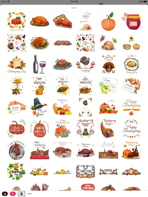 Thanksgiving Watercolor Set screenshot 7