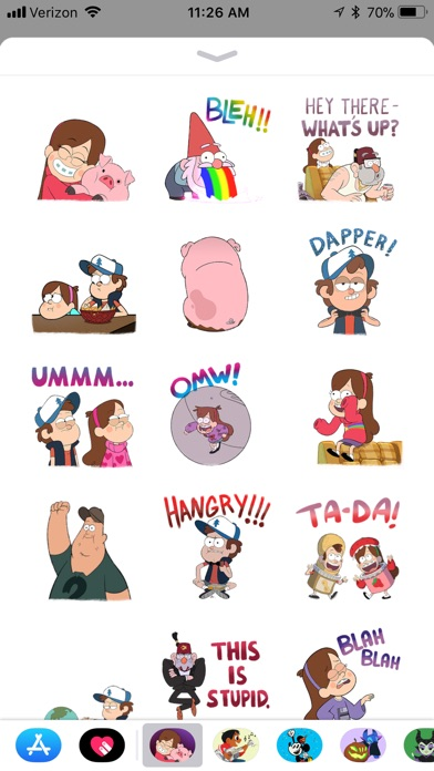 Disney Stickers: Gravity Falls screenshot 1