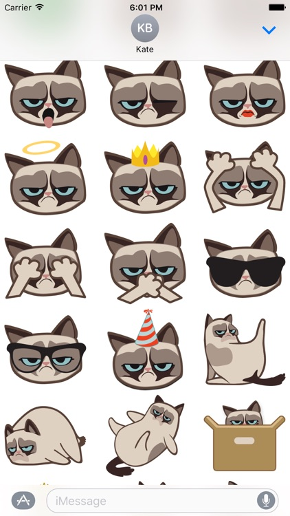 Grumpmoji Grumpy Cat Stickers screenshot-4